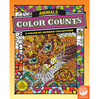 animals color by number books - Color By Number Books